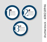modern infographic target... | Shutterstock .eps vector #608218946