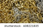 background with fake gold... | Shutterstock . vector #608221835