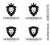 lion shield logo design...   Shutterstock .eps vector #608225276