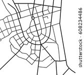 street map texture  vector | Shutterstock .eps vector #608234486
