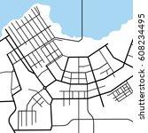 street map texture  vector | Shutterstock .eps vector #608234495