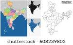 india map | Shutterstock .eps vector #608239802