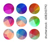 collection of colorful circles... | Shutterstock .eps vector #608243792