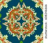 hand drawn vector ethnic... | Shutterstock .eps vector #608246666