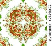 hand drawn vector ethnic... | Shutterstock .eps vector #608246672
