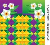 Daffodil Geometric Background