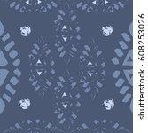 abstract simple vector ethnic... | Shutterstock .eps vector #608253026