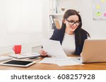 succesfull woman  female... | Shutterstock . vector #608257928