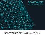 abstract geometry vector... | Shutterstock .eps vector #608269712