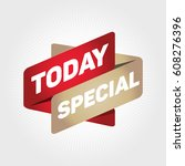 today special arrow tag sign. | Shutterstock .eps vector #608276396