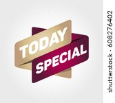 today special arrow tag sign. | Shutterstock .eps vector #608276402