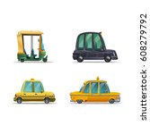 set of icons cute stylized... | Shutterstock .eps vector #608279792