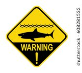 shark warning sign  symbol