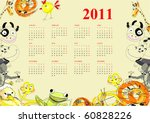 calendar with animals for 2011 | Shutterstock .eps vector #60828226