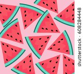 watermelon background | Shutterstock .eps vector #608284448