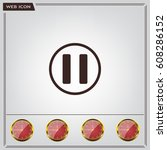 pause button vector icon | Shutterstock .eps vector #608286152