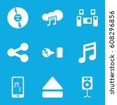 multimedia icons set. set of 9... | Shutterstock .eps vector #608296856