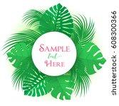 vector illustration of palm... | Shutterstock .eps vector #608300366