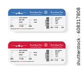 Airline Boarding Pass Tickets...