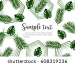 abstract vector layout with... | Shutterstock .eps vector #608319236