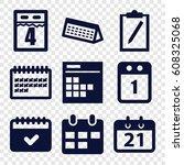 agenda icons set. set of 9... | Shutterstock .eps vector #608325068