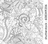 tracery seamless pattern....   Shutterstock .eps vector #608349206
