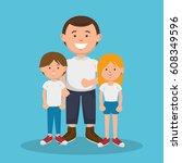 family members avatars... | Shutterstock .eps vector #608349596