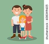 family members avatars... | Shutterstock .eps vector #608349605