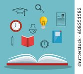 education concept elements icon | Shutterstock .eps vector #608351582