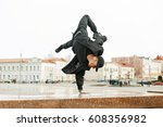 young talented dancer man in... | Shutterstock . vector #608356982