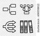 organization icons set. set of... | Shutterstock .eps vector #608358812