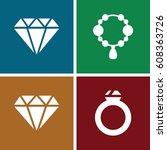 jewel icons set. set of 4 jewel ... | Shutterstock .eps vector #608363726