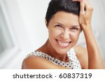portrait of beautiful middle... | Shutterstock . vector #60837319