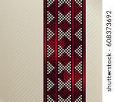 square tile of an arabian...   Shutterstock .eps vector #608373692