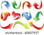 3d set arrows | Shutterstock .eps vector #60837937