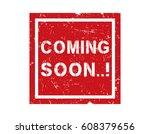 coming soon. grunge poster   Shutterstock .eps vector #608379656