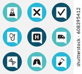 set of 9 editable care icons....