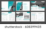 design annual report vector... | Shutterstock .eps vector #608399435