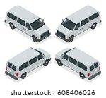 commercial van icons set... | Shutterstock .eps vector #608406026