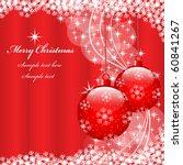 christmas scene with hanging... | Shutterstock .eps vector #60841267