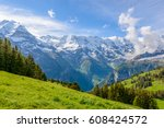 view of beautiful landscape in... | Shutterstock . vector #608424572