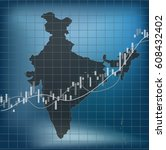india economy and finance  | Shutterstock .eps vector #608432402