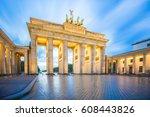 Stock photo brandenburg gate in berlin city germany 608443826