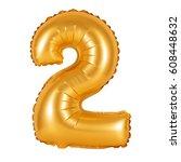 number 2  two  of orange... | Shutterstock . vector #608448632