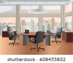 office interior vector business ...   Shutterstock .eps vector #608455832