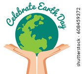 hand holding ecology world with ...   Shutterstock .eps vector #608459372