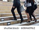 business concept   business man ... | Shutterstock . vector #608460962