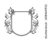 vector image of a heraldic... | Shutterstock .eps vector #608464952