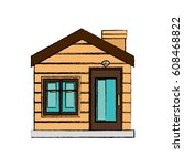 house exterior isolated icon | Shutterstock .eps vector #608468822