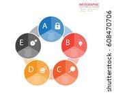 vector circle arrows... | Shutterstock .eps vector #608470706